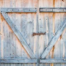 Rustic Barn Door SHOWER CURTAIN Wood Plank Farm Vintage Distressed Fabric Decor