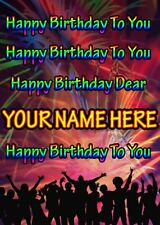Birthday Song Greeting Card PIDFD43 Happy Birthday A5 Personalised