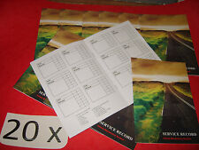 20 x Blank Service History Book & Maintenance Record, replacement for any car