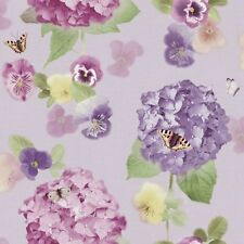 Arthouse Annabelle Lavender Floral Butterfly Blossom Heavyweight Wallpaper