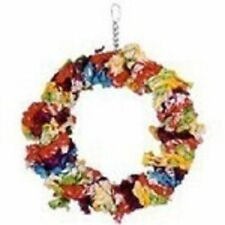 Parrot Perch Bird Perch Swing Toy Paradise Cotton Wreath Swing & Play Large