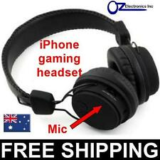 Rechargeable Gaming Headphones iphone wireless bluetooth BLACK FREE POSTAGE