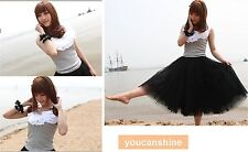 Women's Girl Lady Tutu Long Ballet Dance Party Wedding Pettiskirt Bubble Skirt