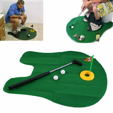 FUNNY insensata WC tempo Golfisti MINI GOLF MAT & PUTTER Gioco Set