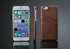 "GENUINE LEATHER CASE COVER WITH TWO CARD SLOT FOR IPHONE 6 6S PLUS 5.5"" SCREEN"
