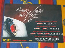 ROGER WATERS - 2012 THE WALL AUSTRALIAN TOUR - PINK FLOYD  LAMINATED TOUR POSTER