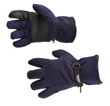 Portwest GL12 Fleece Winter Glove Thinsulate Lined Navy One Size