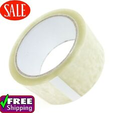 144 CLEAR PACKING TAPE ROLLS CARTON SEALING 50MMX66M PACKAGING TAPE ROLLS