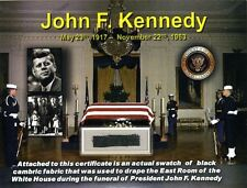 Genuine Piece of the Black Fabric Used During the Funeral of John F. Kennedy