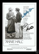 ANNIE HALL - WOODY ALLEN & DIANE KEATON SIGNED AND FRAMED PP PHOTO POSTER