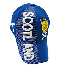 SCOTLAND  St. ANDREW CROSS Country Flag  EMBROIDERED HAT CAP ..  NEW