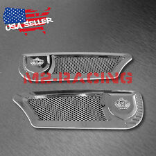 Universal ABS Chrome Air Fender Grill VIP Side Vents Car SUV Decal Decoration