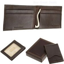 Premium Mens Front Pocket Wallet, Brown, One Size, Slim And Thin 100% Leather