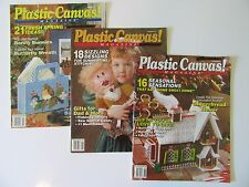 Plastic Canvas Magazine 1991 *3 Issues* Lucy Doll-Ballerina-Bunnies-Ginger House