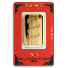 1 oz Pamp Suisse Year of the Snake Gold Bar - In Assay - SKU #83229