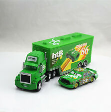 Disney Pixar Car No.86 Mack Racer's Truck & Chick Hicks Car 1:55 Diecast Set