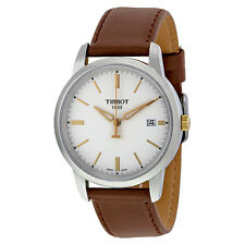 Tissot T-Classic Dream White Dial Brown Leather Mens Watch T0334102601100