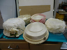 Lot of 5 Vintage Ladies Hats Art Deco Flapper Girl Easter Pill Box NICE
