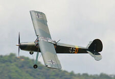 "1/4 Scale FIESELER Fi 156C-1 STORCH scratch build R/c Plane Plans 140"" wingspan"