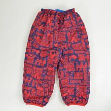 PATAGONIA Baby Reversible Puff Ball Insulated PANTS 3T Blue Red Forest Animals