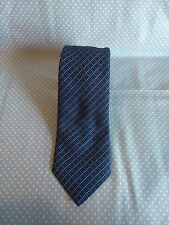 Burberry London Blue Plaid Diamond Shape Pattern Woven 100% Silk Neck Tie VGUC
