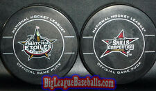 Rare FRENCH Version All-Star Game Puck & Ottawa Senators 2012 NHL Skills Puck