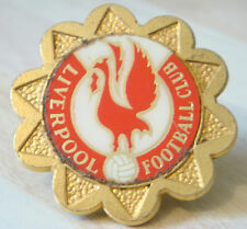 LIVERPOOL Vintage 1970s 80s insert type badge Brooch pin in gilt 34mm x 34mm