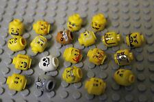 Lego® 60 Köpfe für Figuren Minifig nahezu unbespielt