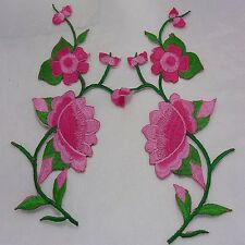 10pcs Embroidered Cloth Iron On Patch Sew Motif Applique flower A2