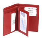 Pouch Card wallet Id card wallet LEAS in genuine leather, cherry