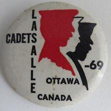 1969 LASALLE CADETS OTTAWA CANADA PIN PINBACK BUTTON                (INV10963)