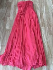 Halston Heritage Tulip Maxi Dress Size 4 $895 NWT Small S Long Pink Rose Corset