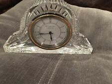 Waterford Crystal Large Mantel Clock Signed Ireland