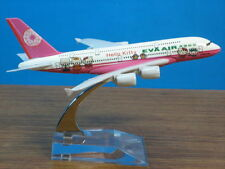 Solid EVA AIR Hello Kitty A380 Passenger Plane Airplane Metal Diecast Model C