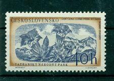 FLEURS - FLOWERS CZECHOSLOVAKIA 1957 Mi. 1037 Gentiana