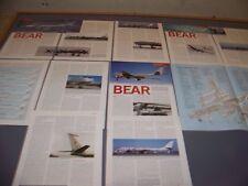 VINTAGE..TUPOLEV TU-95 & TU-142 BEAR HISTORY ....CUTAWAY/VARIANTS ..RARE! (508J)