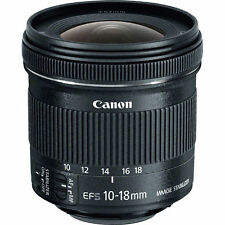 New Canon EF-S 9519B002 10-18mm F/4.5-5.6 STM IS EF-S Lens - Original White Box
