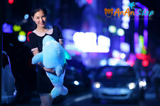 27'' Irradiative Dolphin Stuffed Soft Toy Plush Animal Doll Hold Pillow 3 Colors