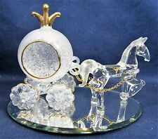 Horse and Fairy Coach Hand Blown Glass Fantasy Figurine