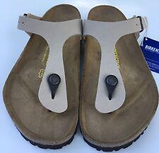 Birkenstock Gizeh 043381 size 35 L4-4.5 R Beige Birko-Flor Thong Sandals