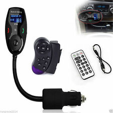 LCD Car kit MP3 Bluetooth player FM transmitter Radio AM Remote Steering Wheel