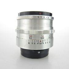 Praktina Bajonett Carl Zeiss Tessar red T 2.8/50 Objektiv / lens