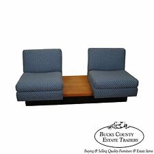Milo Baughman Thayer Coggin Floating Platform Bench w/ 2 Lounge Chairs