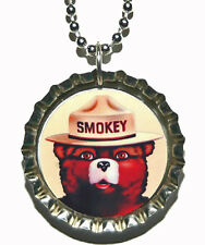 SMOKEY the BEAR BOTTLE CAP NECKLACE (CAP034a)