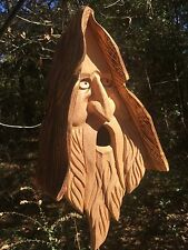 Christmas Jesus Christ Hand Carved Cedar Birdhouse With Hair