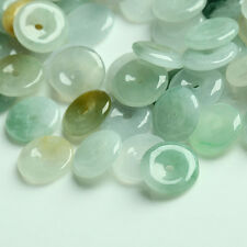 50PCS Natural Grade A Jade (Jadeite) loose Circle bead/ Size: 11mm (Wholesale)