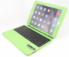 Ultra Slim iPad Air 2 Folio ABS Wireless Bluetooth Keyboard Case Station Green