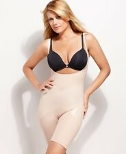 DISCONTINUED! Spanx Firm Luxe Open Bust Mid-Thigh Shaper Style 2181 Beige SZ Lg