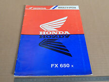 SUPPLEMENTO MANUALE OFFICINA HONDA FX 650 X