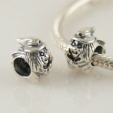 925 Solid Sterling Silver Witch Charm Bead.